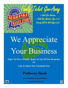 pathway bank state fair tickets