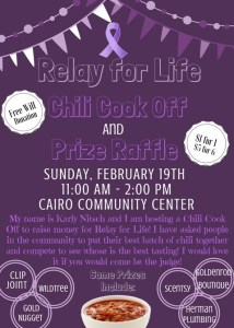 Relay for life flyer