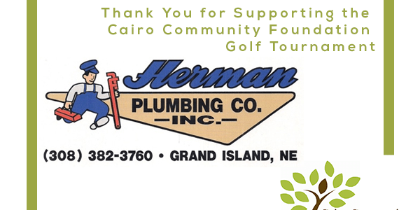 Herman Plumbing is Sponsoring the Cairo Community Foundation Surf and Turf Tournament