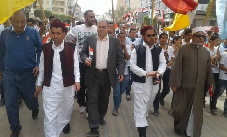 مسيرة تائيد الرئيس في مطروح
