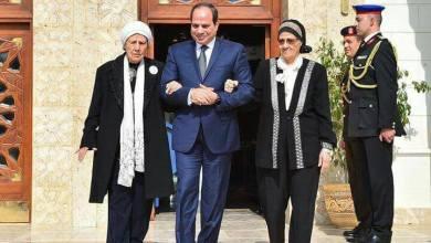 الرئيس السيسي يستقبل فتحية وسيدات