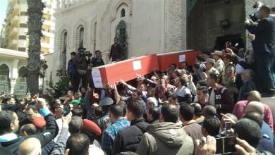 جنازة شهداء التفجير الإرهابي بالإسكندرية