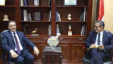 وزير الآثار وسفير ألمانيا بالقاهرة