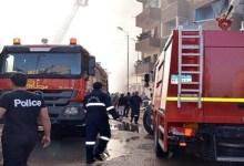"""الحماية المدنية تسيطر على حريق داخل مخزن بـ""""قحافة"""" في طنطا"""