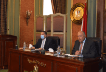 Photo of سامح شكري يعقد اجتماعا مع قيادات وزارة الخارجية