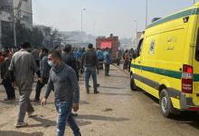 بالأسماء.. خروج 12 مصابا في حريق مصنع العبور من مستشفى السلام
