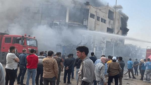 الطب الشرعي: 12 جثة مجهولة بحريق مصنع العبور في مستشفى السلام