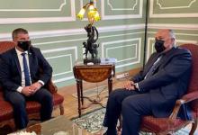 سامح شكري يلتقي وزير الخارجية الإسرائيلي بالقاهرة