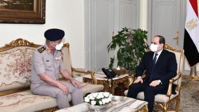 الرئيس السيسي يستقبل وزير الدفاع والإنتاج الحربي (فيديو)