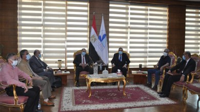 رئيس جامعة كفر الشيخ يترأس لجنة اختيار عميد كلية الزراعة