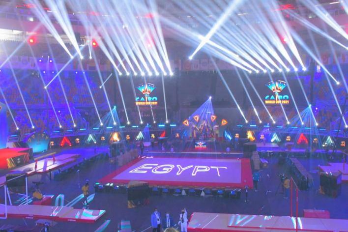 وزيرا الرياضة وشؤون المجالس النيابية يشهدان افتتاح بطولة العالم للجمباز الفني