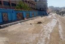 استمرار أعمال التطوير ورفع الإشغالات والتعديات على حرم الطريق بكفر الشيخ