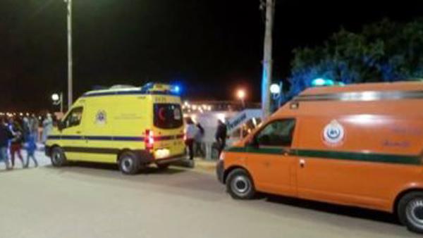 انقلاب سيارة في كفر الشيخ يسفر عن إصابة 4 سيدات