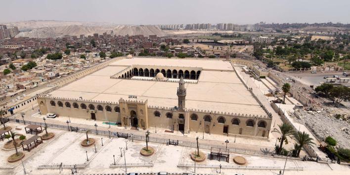 تطوير ساحة مسجد عمرو بن العاص