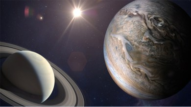ظاهرة فلكية.. الأرض تتحرك بين زحل والشمس