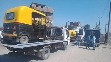 ضبط 120 توك توك مخالف في حملة مرورية بكفر الشيخ ودسوق