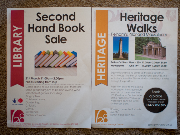 This weekend at Caistor Arts and Heritage