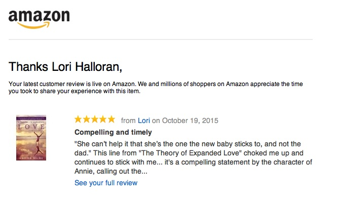 Lori's REview on Amazon