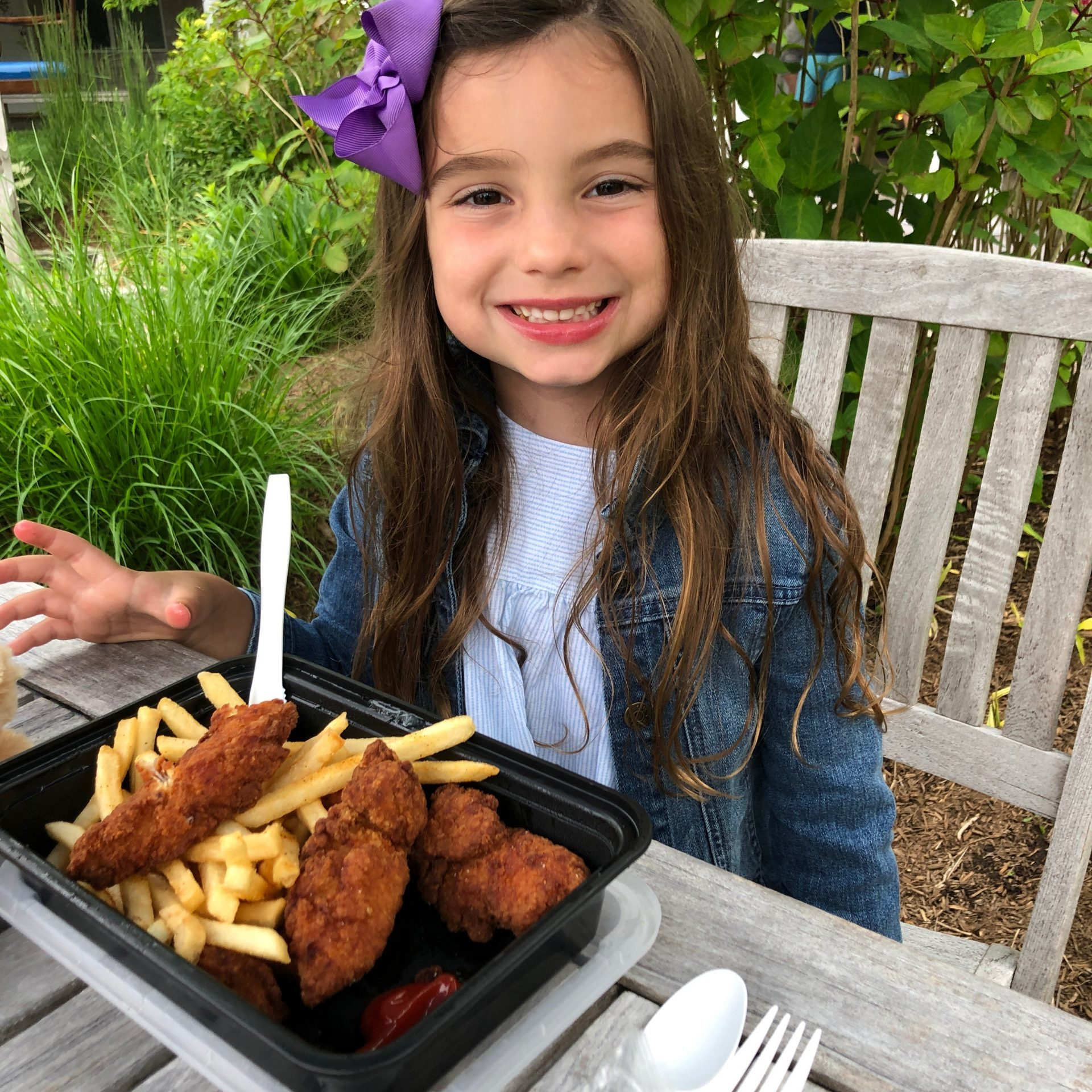little with with chicken tenders at winnetu