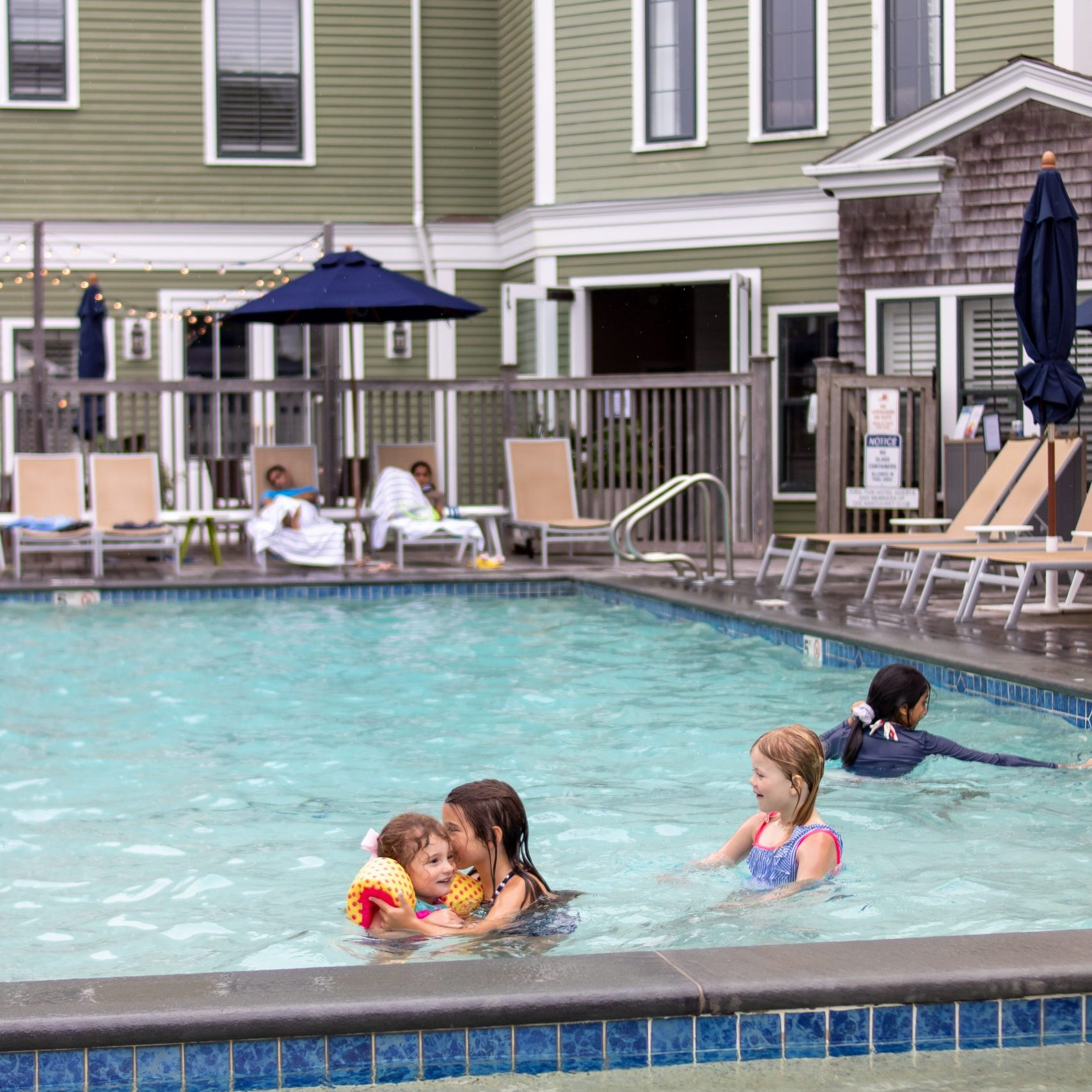 children playing in the Nantucket Hotel family pool