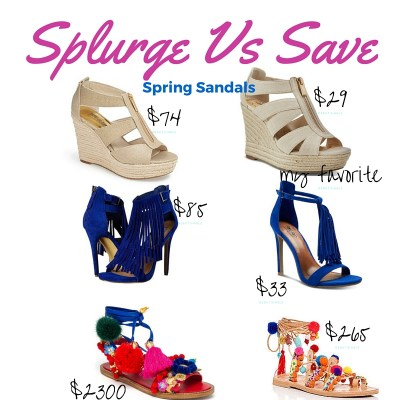 Save Vs Splurge Sandals!