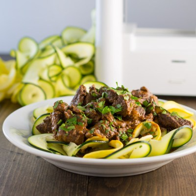 Zoodle Beef Stroganoff