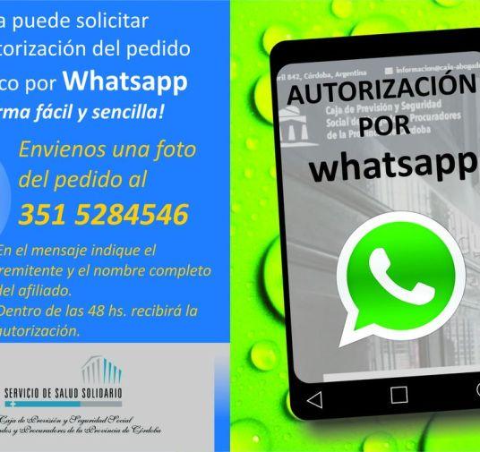 Ahora podés solicitar autorizaciones por Whatsapp