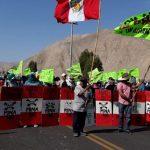 Tía María: pobladores se movilizaron en el primer día de protesta al proyecto minero