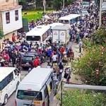 Realizan paro indefinido en contra del gobernador regional Mesías Guevara