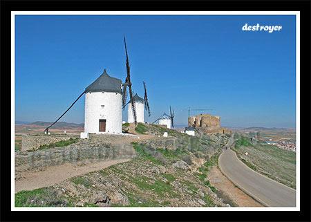 batalla de Don Quijote y los gigantes