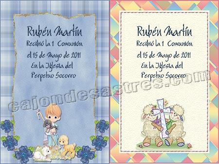 descargar gratis 2 tarjetas de comunion