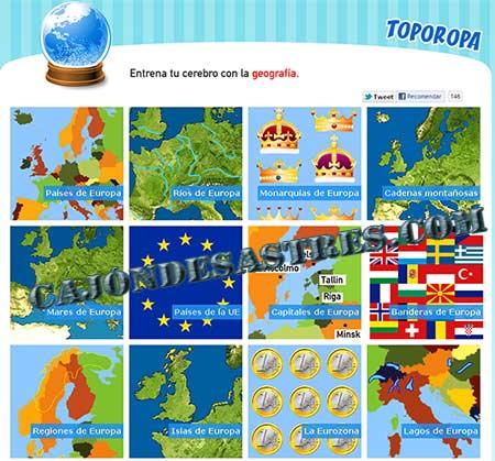 Juego infantil para aprender geografa de Europa  Cajn desastres