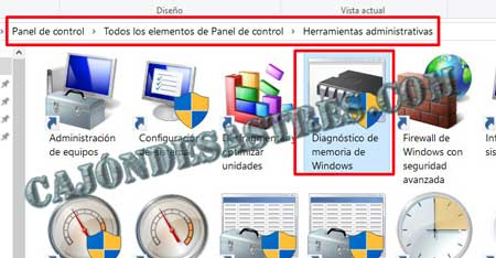 comprobar memoria RAM en windows 10