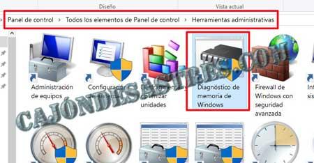 comprobar memoria RAM en windows 10