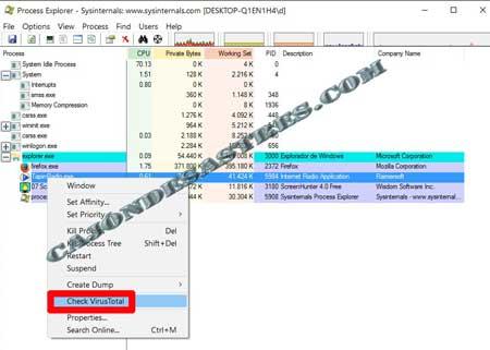 analizar procesos windows