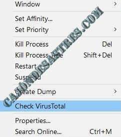 analizar procesos de windows en virustotal
