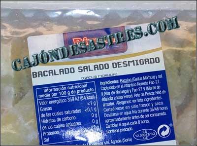 bacalado salado desmigado