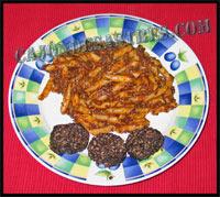 receta macarrones con morcilla