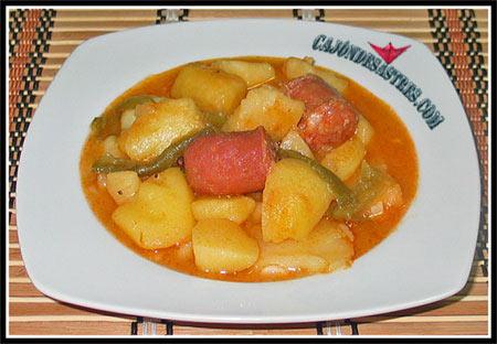 Receta de patatas con chorizo, patatas a la riojana