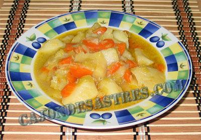 Receta porrusalda, patatas con puerros