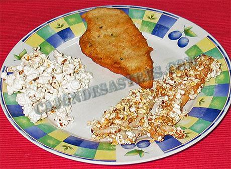 receta de pollo con palomitas y pollo empanado
