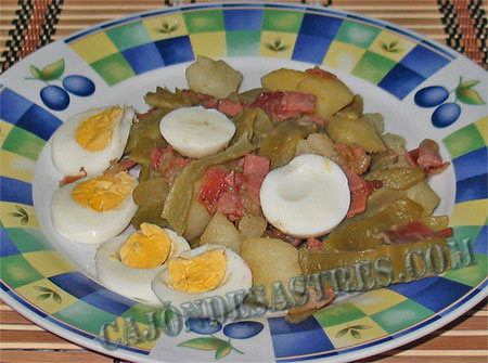 receta de judias verdes con jamon