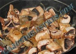Receta de champiñones con panceta