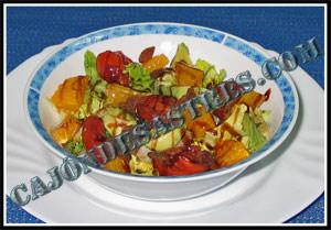 receta ensalada de aguacate con naranja