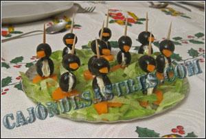 receta de aperitivo pinguino