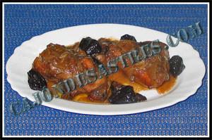 receta de pollo en salsa de ciruelas