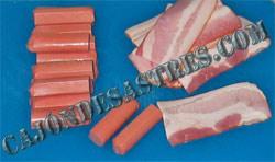 rollito de salchicha y bacon