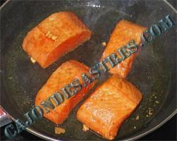 receta salmon salsa soja con guarnición
