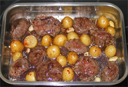 receta de carrillera asada con guarnición