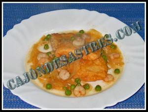 Receta de pescado rebozado en salsa